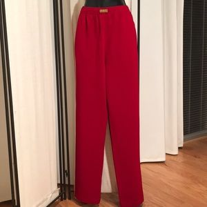 St. John Sport by Marie Gray red knit pants M